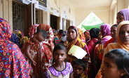 Pregnant mothers and  adolescents came together to receive sexual and reproductive health services on the 1st day of Free Medical Camp at Kurigram