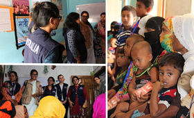 Australia Aid team visits Women Friendly Spaces and Reproductive Health Clinic